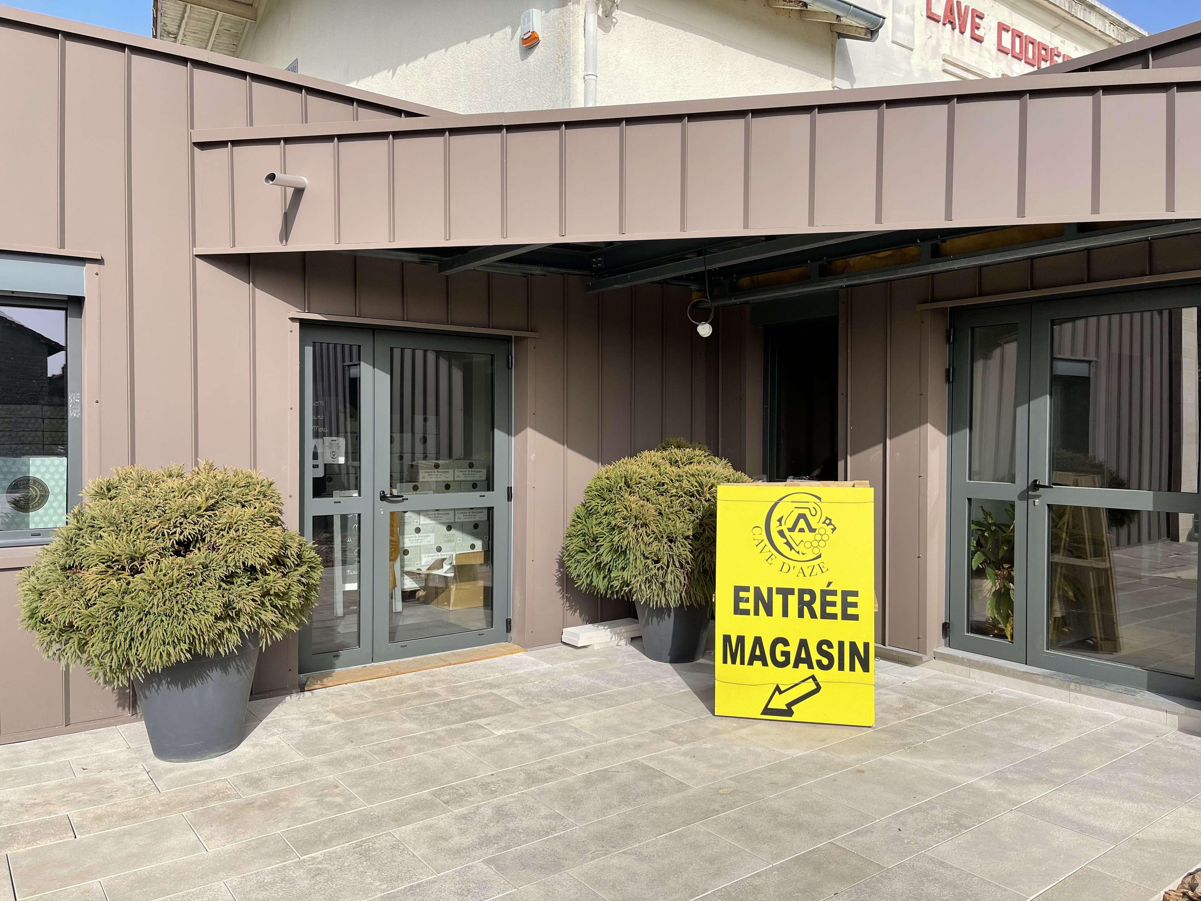 Cave d'Azé : horaires d'ouverture du magasin